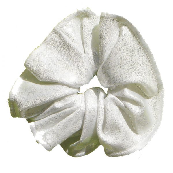 haarfrutsels metallise poudre wit