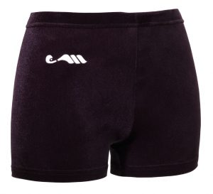 Mini short glad verlours zwart