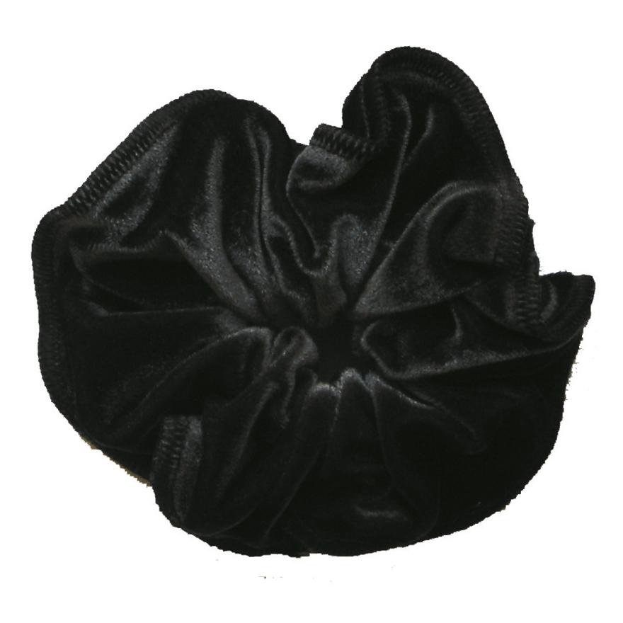 haarfrutsel glad velours zwart