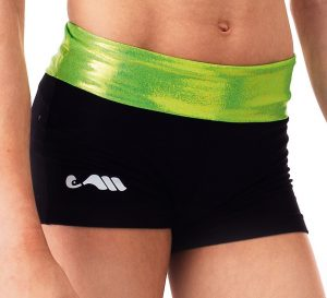 mini short lime-black